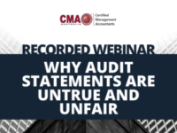 Recording: Why Audit Statements Are Untrue And Unfair