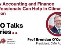 """Prof Brendan O'Connell """"How Accounting and Finance Professionals Can Help in Climate Action"""""""
